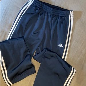 Adidas track pants navy with 3 white stripes